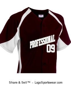 Professional Baseball Jersey Design Zoom